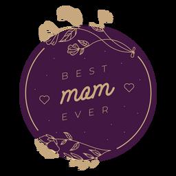 La mejor placa de mamá