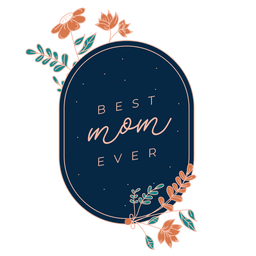 Best mom mothers day badge