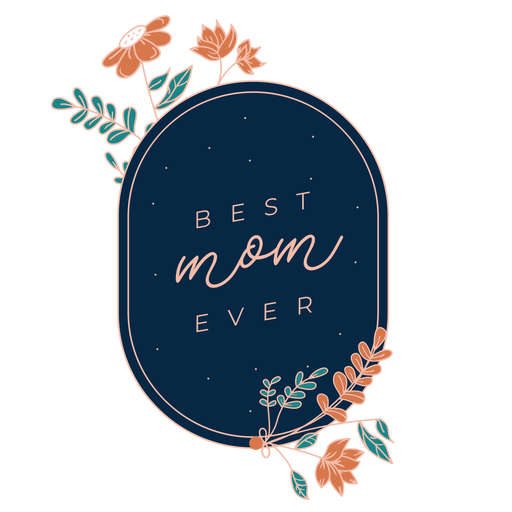 Best mom mothers day badge Transparent PNG