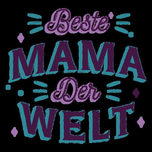 Beste mama der volte german lettering