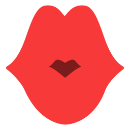 Simple Kiss Lips Flat Transparent Png Svg Vector File