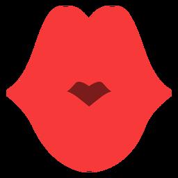 Grande beijo plano