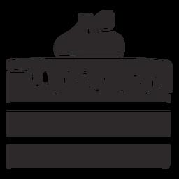 Pastel negro en capas con glaseado