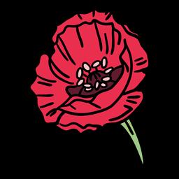 Dibujado a mano flor floreciente