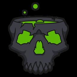 Brewing bubbles skull