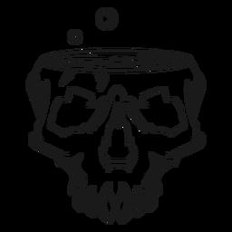 Brewing skull illustration