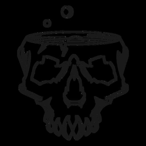 Ilustración de cráneo de elaboración