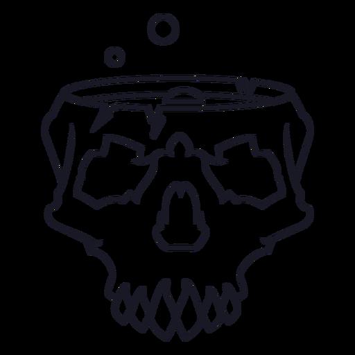 Trazo de cráneo de elaboración