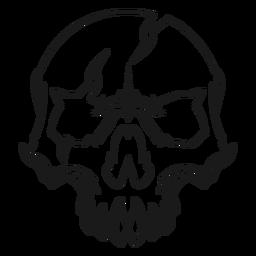 Ilustración de cráneo roto
