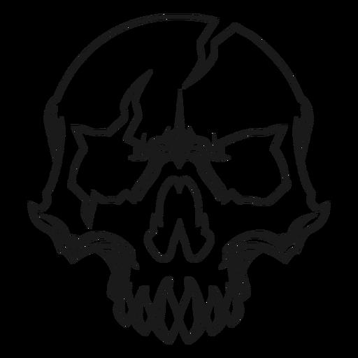 Broken skull illustration