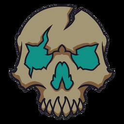 Brutal broken skull