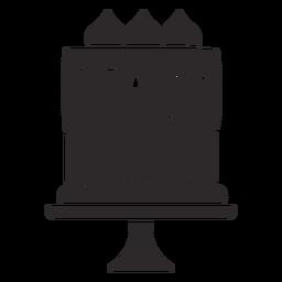 Chocolate cake black