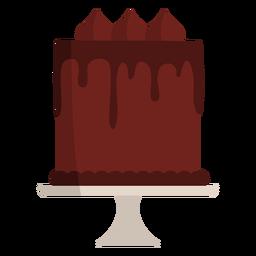 Chocolate cake flat