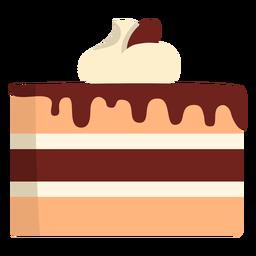 Tarta de chocolate y vainilla plana