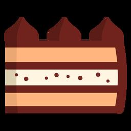 Schokoladenstück Kuchen flach