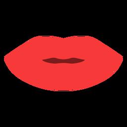 Closed lips flat
