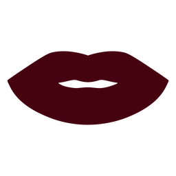 Closed lips silhouette