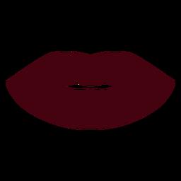 Silhueta de lábios fechados