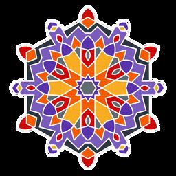Adorno colorido estilo árabe