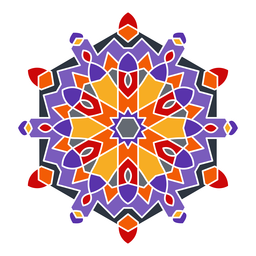 Colorful arabic style ornament