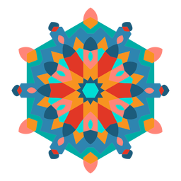 Adorno colorido estilo árabe plano