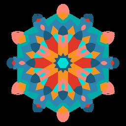 Colorful arabic style ornament flat