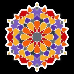Colorful arabic mandala
