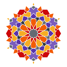 Mandala árabe colorido