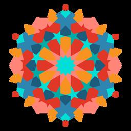 Colorful arabic mandala flat