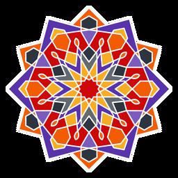 Ornamento geométrico árabe colorido