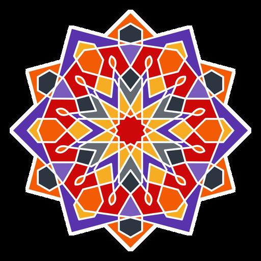 Adorno geométrico árabe colorido