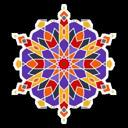 Adorno curvilíneo colorido