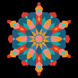 Colorful curvy ornament flat