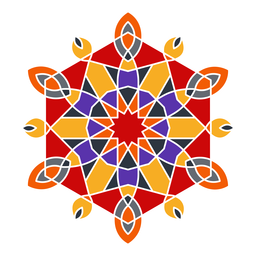 Colorful geometric ornament