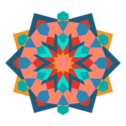 Colorful geometric ornament flat