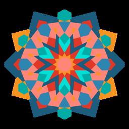 Ornamento geométrico colorido liso