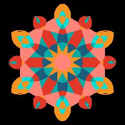 Colorful geometric ornament flat geometric