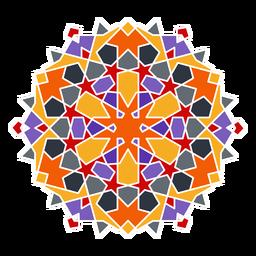 Adorno árabe colorido complejo
