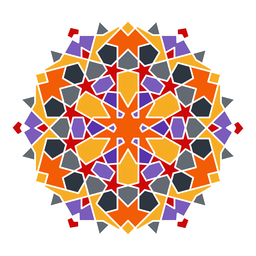 Ornamento árabe colorido complexo