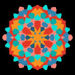 Complex colorful ornament flat