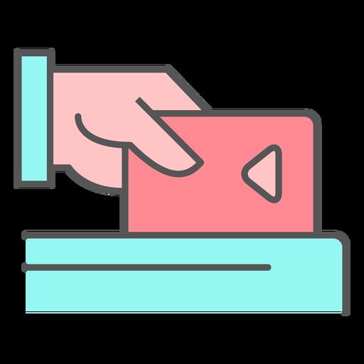 Icono de color de tarjeta de crédito