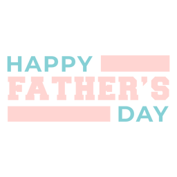 Cute happy fathers day lettering