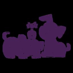Aniversário de filhotes de cachorro bonito plana