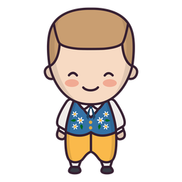 Lindo personaje de chico sueco