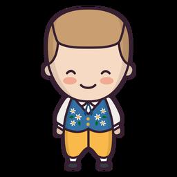 Personagem de menino sueco bonito