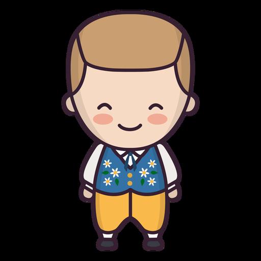 Cute swedish boy character Transparent PNG