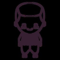 Cute swedish boy character stroke