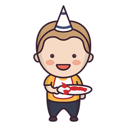 Cute birthday boy character