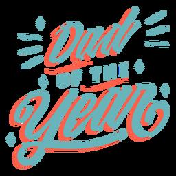 Letras cursivas de papá del año
