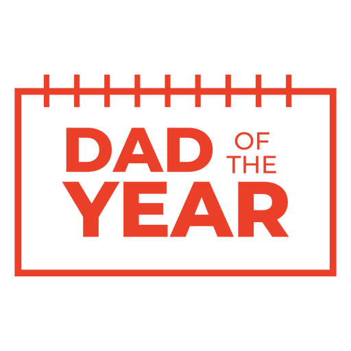Dad of the year lettering